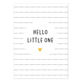 Kaart - Hello little one - goudfolie