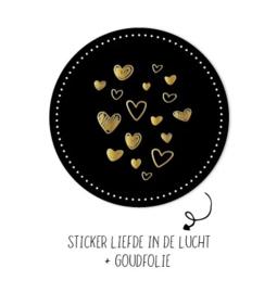 Stickers - liefde in de lucht - per 5 stuks