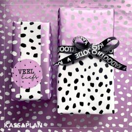 Inpakpapier - 101 Dots - lila - 2m