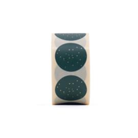 Stickers - dots of gold - green - per 5 stuks