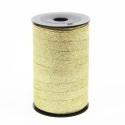 Lint - goud shiney - glitter - per 3 meter