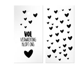 Label - Sint - Vol verwachting klopt ons hart