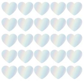 Stickers - Sow&Grow Hearts - holografisch - per 10 stuks