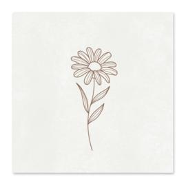 Minikaartje - Flower
