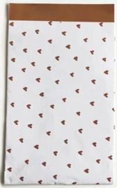 Kadozakje - Hartjes koper - per 5 stuks (12x19cm)