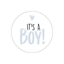 Stickers - It's a BOY! - blue - per 5 stuks