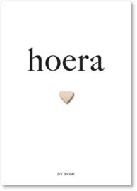 Kaart & envelop - Hoera - 🤍
