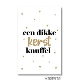 Minikaartje - Kerst - een hele dikke Kerst knuffel