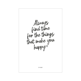 Kaart - Always find time for the things that make you happy