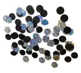 Confetti - zwart / holografisch