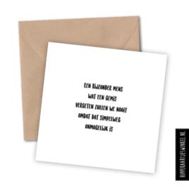 """Kaart & Envelop - """"Bijzonder mens"""""""