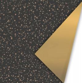 Inpakpapier - Twinkling Stars - zwart - 2m - OP=OP