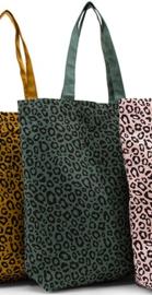 Tas - Shopper leopard / panter - forest green