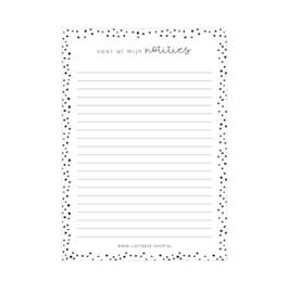 Notitieblok - Voor al mijn notities