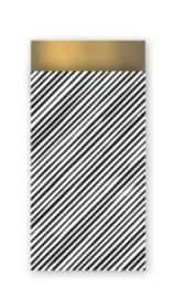 Kadozakje - Manual Stripes - gold - per 5 stuks (7x13cm)