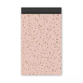 Kadozakje - Twinkling Stars - roze - per 5 stuks (12x19cm)