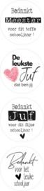 Stickers - Juf / meester - assorti - per 10 stuks