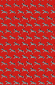 Inpakpapier - Zebra's rood - 31 x 71 cm