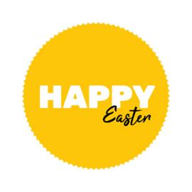 Sticker - HAPPY Easter - per stuk