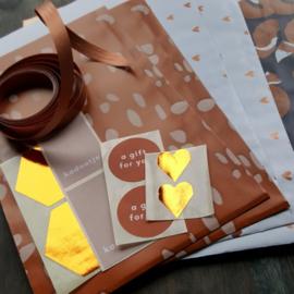 Inpakset - 15-delig - Koper / Rust
