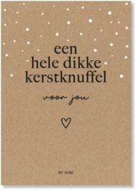 Kaart & envelop - Kerst - Een hele dikke Kerstknuffel voor jou
