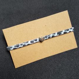 Armbandje - IBIZA - Elastisch lint - met schuiver