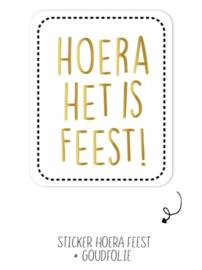 Stickers - Hoera het is feest! - per 10 stuks