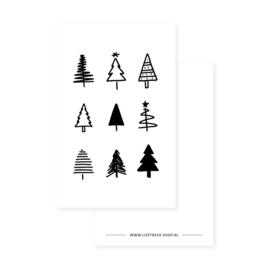 Minikaartje - Kerst - Kerstbomen