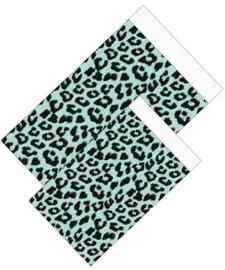 Kadozakje - Leopard - mint - per 5 stuks (12x19cm)