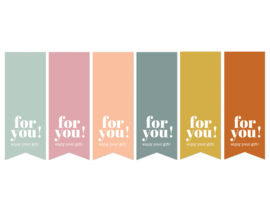 Stickers - vaantje - for you! - per 6 stuks