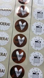 Stickers - Cadeautje (plaatje) sterren - goud - per 10 stuks