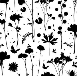 Tissue paper / Vloeipapier - GROW - zwart - per 5 stuks