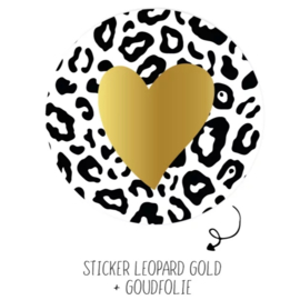 Stickers - Leopard Gold - per 5 stuks