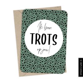 Kaart & Envelop - Ik ben TROTS op jou!