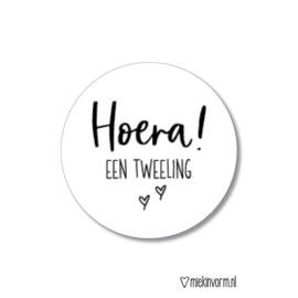 Stickers - Hoera! Een tweeling - per 5 stuks