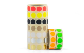 Stickers - dots goud - per 5 stuks
