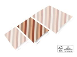 Kadozakje - Diagonaal - Terra - per 5 stuks (17x25cm)
