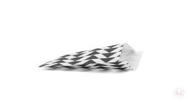 Kadozakje - Piramide - zwart / wit per 5 stuks (17x25cm)