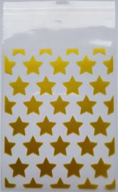 Zakjes - ster - goud per 5 stuks