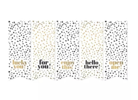 Stickers - vaantje - Black & Gold! - per 10 stuks