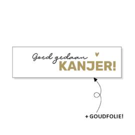 Stickers - Goed gedaan KANJER! - per stuk