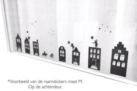 Raamstickers - straatje Sint herbruikbaar - klein - wit of zwart