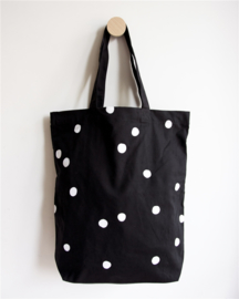 Tas - Shopper black, white dots