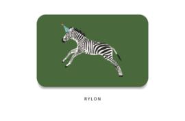 Minikaart - Zebra feestmuts groen