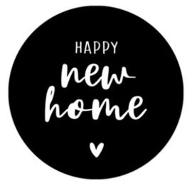 Stickers - Happy new home - per 5 stuks