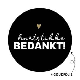 Stickers - Hartstikke bedankt! - per 10 stuks