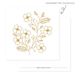 Minikaartje - BLOEM - goudfolie