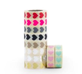 Stickers - Hart mini - goud per 10 stuks