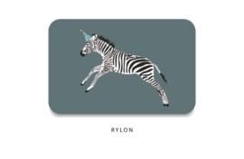 Minikaart - Zebra feestmuts
