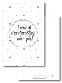 Minikaartje - Kerst - Lieve Kerstgroetjes voor jou!